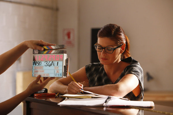 "SMASH -- ""The Dramaturg"" Episode 203 -- Pictured: Debra Messing as Julia Houston -- (Photo by: Will Hart/NBC)"