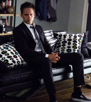 Patrick J. Adams as Mike Ross. Image © USA