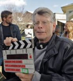"""Stephen King on the set of CBS' """"Under the Dome"""""""
