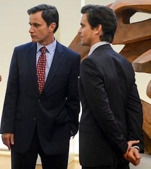 Tim DeKay and Matt Bomer as Peter Burke and Neal Caffrey - (Photo by: David Giesbrecht/USA Network)