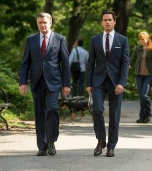 Treat Williams and Matt Bomer as James Bennett and Neal Caffrey -- (Photo by: David Giesbrecht/USA Network)