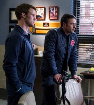 Jesse Spencer as Matthew Casey, Taylor Kinney as Kelly Severide -- (Photo by: Elizabeth Morris/NBC)