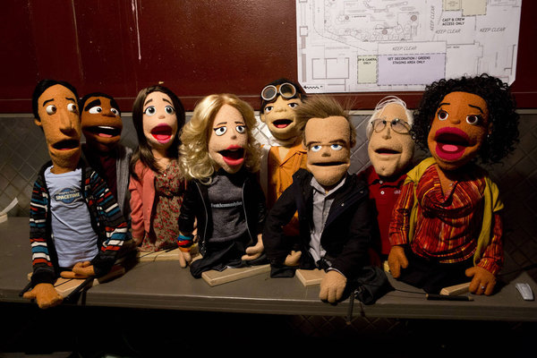 The cast of Community, in felt (Photo: Justin Lubin/ Sony Pictures Television/NBC)