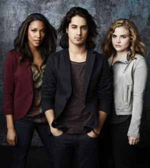 "ABC Family's ""Twisted"" stars Kylie Bunbury as Lacey, Avan Jogia as Danny and Maddie Hasson as Jo. (ABC FAMILY/Andrew Eccles)"