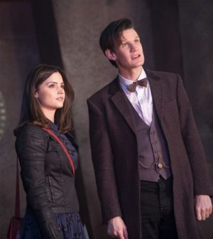 "Jenna Louise Coleman and Matt Smith in ""The Rings of Akhaten"" Image © BBC"
