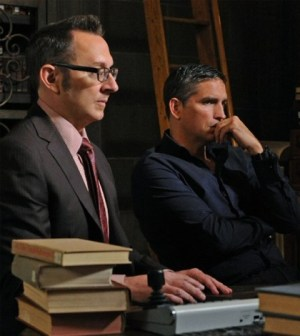 Michael Emerson (l) and Jim Caviezel (r) in Person of Interest. Image © CBS