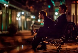 """The Vampire Diaries -- """"The Originals"""" -- Pictured (L-R): Joseph Morgan as Klaus and Daniel Gillies as Elijah -- Image Number: VD420e_0540r.jpg -- Photo: Skip Bolen/The CW -- © 2013 The CW Network, LLC. All rights reserved."""