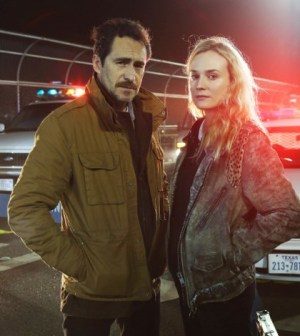 THE BRIDGE - Pictured: (L-R) Demian Bichir, Diane Kruger. CR: FX Network