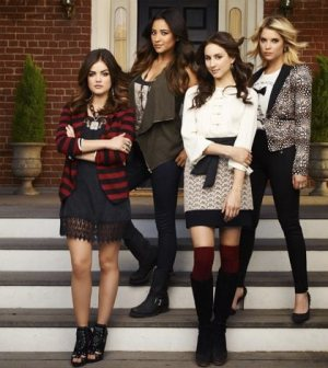 "ABC Family's ""Pretty Little Liars"" stars Lucy Hale as Aria Montgomery, Shay Mitchell as Emily Fields, Troian Bellisario as Spencer Hastings and Ashley Benson as Hanna Marin. (ABC FAMILY/ANDREW ECCLES)"