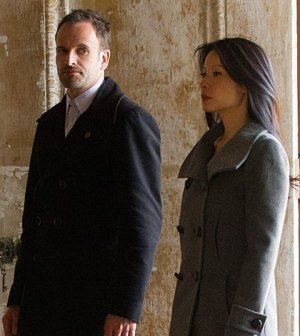 Jonny Lee Miller and Lucy Liu in CBS' Elementary. Image © CBS