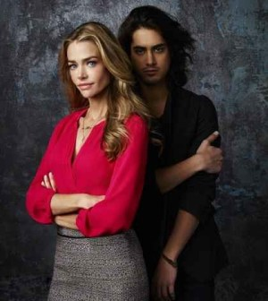 Denise Richards as Karen and Avan Jogia as Danny. (ABC FAMILY/Andrew Eccles)