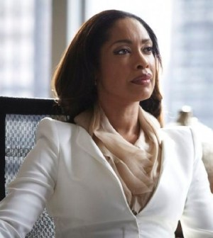 Pictured: Gina Torres as Jessica Pearson -- (Photo by: Ian Watson/USA Network)