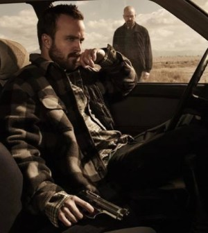 Foreground: Aaron Paul. Background: Bryan Cranston. Image © AMC