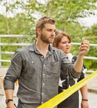 Pictured: L-R Mike Vogel as Barbie and Jolene Purdy as Dodee Photo: Kent Smith/©2013 CBS Broadcasting Inc. All Rights Reserved.
