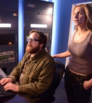 Pictured: (l-r) Zak Orth as Aaron, Elizabeth Mitchell as Rachel Matheson -- (Photo by: Brownie Harris/NBC)