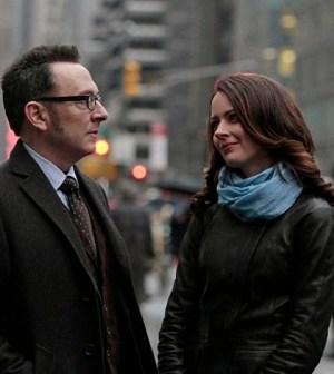 "Michael Emerson (L) and Amy Acker (R) in Person of Interest's ""Zero Day."" Image © CBS"
