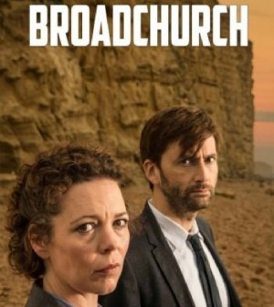David Tennant and Olivia Colman in the UK version of Broadchurch. Image © UTV