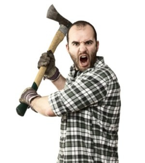 He's a lumberjack and he's grossly underpaid.