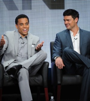 ALMOST HUMAN Cast Members Michael Ealy and Karl Urban during ALMOST HUMAN  panel session at the FOX 2013 SUMMER TCA, Thursday August 1 at the Beverly Hilton in Beverly Hills, CA.   CR: Frank Micelotta/FOX