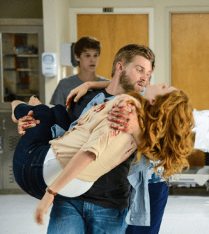 """A Scene from Under the Dome's """"Speak of the Devil"""" Image © CBS"""