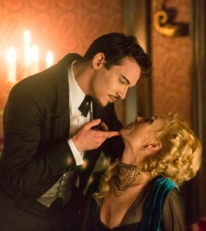 Pictured: (l-r) Jonathan Rhys Meyers as Alexander Grayson, Victoria Smurfit as Lady Jayne Wetherby -- (Photo by: Jonathon Hession/NBC)