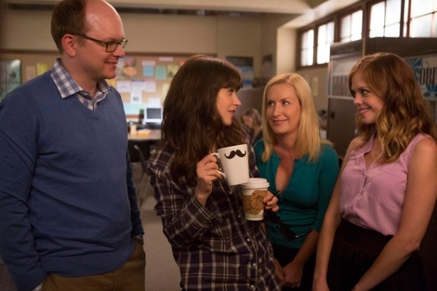 """Jess tries to fit in with her peers in New Girl's """"Nerd"""" Episode. Image © FOX"""