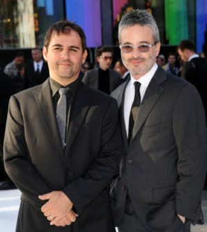 Roberto Orci and Alex Kurtzman. (Photo by Stuart C. Wilson/Getty Images for Paramount Pictures)