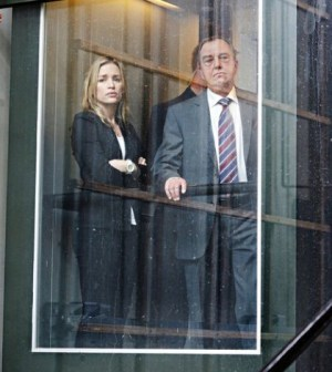 Pictured: (l-r) Piper Perabo as Annie Walker, Gregory Itzin as Henry Wilcox -- (Photo by: Tim Whitby/USA Network)