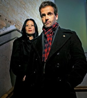 Lucy Liu and Jonny Lee Miller in Elementary. Image © CBS