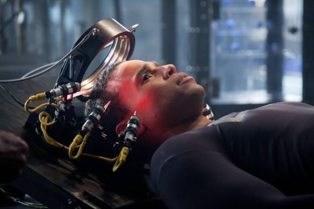 "DRN - aka ""Dorian"" is reactivated in Almost Human's Pilot Episode. Co.  Cr:  Liane Hentscher/FOX"