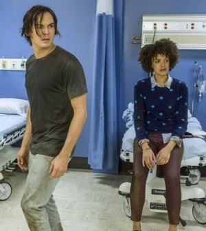 Pictured: Tyler Blackburn, Britne Oldford -- Photo by: ABC FAMILY/Skip Bolen