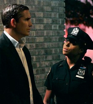 Jim Caviezel as Reese. Taraji P. Henson as Carter. Image © CBS