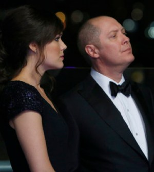 Pictured: (l-r) Megan Boone as Elizabeth Keen, James Spader as Raymond 'Red' Reddington -- (Photo by: Will Hart/NBC)