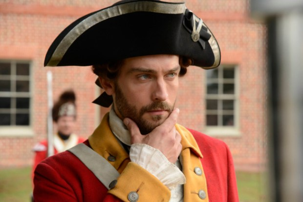 A flourishing hat and beard. Tom Mison as Ichabd Crane in a flashback to Crane's old life. Co. CR: Brownie Harris/FOX