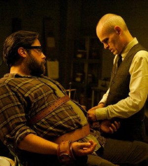 Pictured: (l-r) Zak Orth as Aaron Pittman, Zeljko Ivanek as Dr. Horn -- (Photo by: Felicia Graham/NBC)