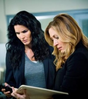 (left to right) Angie Harmon, Sasha Alexander. Photo Credit: Trae Patton