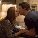 """Brennan (Emily Deschanel, L) and Booth (David Boreanaz, R) share an evening at home in the """"The Ghost in the Killer"""" episode of BONES Co.  Cr:  Jennifer Clasen/FOX"""