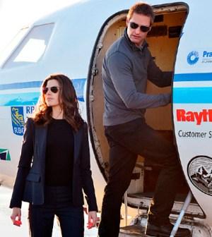 Megan Ory and Josh Holloway in Intelligence. Photo: Chris Helcermanas-Benge/CBS