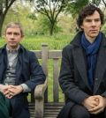 Martin Freeman (l) and Benedict Cumberbatch (r) in Sherlock. Image © BBC