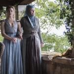 Natalie Dormer as Margaery Tyrell, Diana Rigg as Olenna Tyrell_photo Macall B. Polay_HBO
