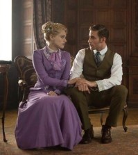 Pictured (L-R): Katie McGrath as Lucy Westenra, Oliver Jackson-Cohen as Jonathan Harker -- Photo by: David Lukacs/NBC