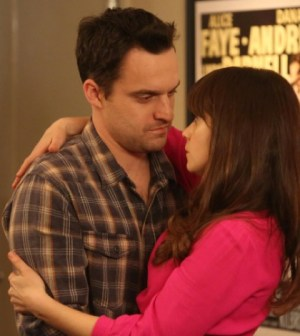 Pictured: Jake Johnson as Nick Miller and Zooey Deschanel as Jess Day. Co.  Cr:  Patrick McElhenney/FOX