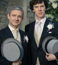 Pictured: Martin Freeman as Watson (L) and Benedict Cumberbatch (R) as Holmes. Image © BBC