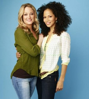 "ABC Family's ""The Fosters"" stars Teri Polo as Stef and Sherri Saum as Lena. (ABC FAMILY/Andrew Eccles)"