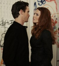 Pictured: (l-r) -- Matt Bomer and Bridget Regan. (Photo by: David Giesbrecht/USA Network)
