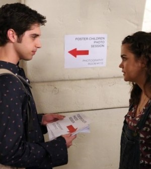 Pictured (L-R): David Lambert and Maia Mitchell -- Photo by: ABC FAMILY/Adam Taylor