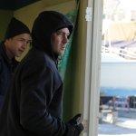 Pictured: (l-r) Jeff Hephner as Clarke, Taylor Kinney as Kelly Severide -- (Photo by: Elizabeth Morris/NBC)