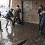 Pictured: (l-r) Jason Beghe as Hank Voight, Jon Seda as Antonio Dawson, Sydney Tamiia Poitier as Mia Sumner, Patrick Flueger as Adam Ruzek -- (Photo by: Matt Dinerstein/NBC)