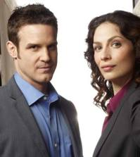 Eddie McClintock and Joanne Kelly of Syfy's Warehouse 13