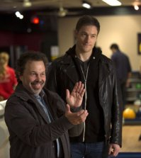 Pictured (L-R): Curtis Armstrong as Metatron and Tahmoh Penikett as Gadreel -- Credit: Cate Cameron/The CW --  © 2014 The CW Network